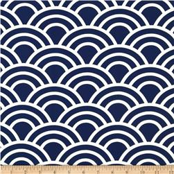 Michael Miller Bekko Home Decor Swell Navy