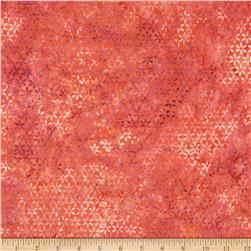 Bali Batiks Handpaints Star Flower Peach