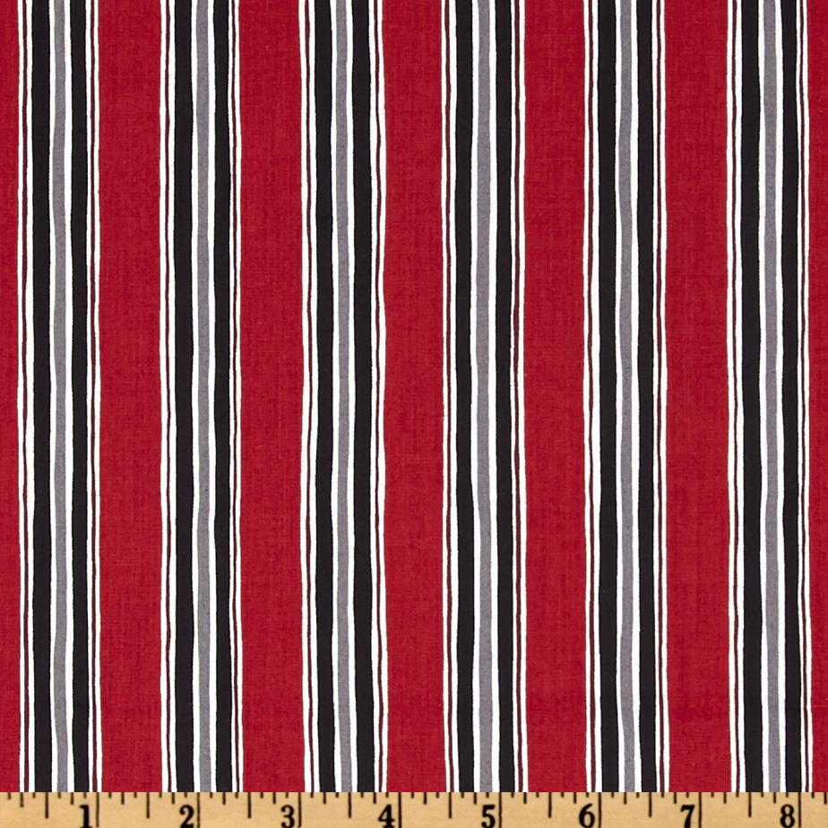Canvas Stripe Red