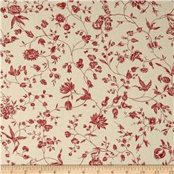 "Moda Pondicherry 108"" Quilt Back Villianur Pearl/Red"