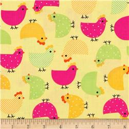 Urban Zoologie Chicks Garden Fabric