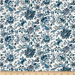 Liberty of London Classic Tana Lawn Christelle White/Aqua