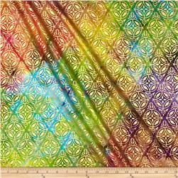 Indian Batik Montego Bay Medallion Metallic Multi