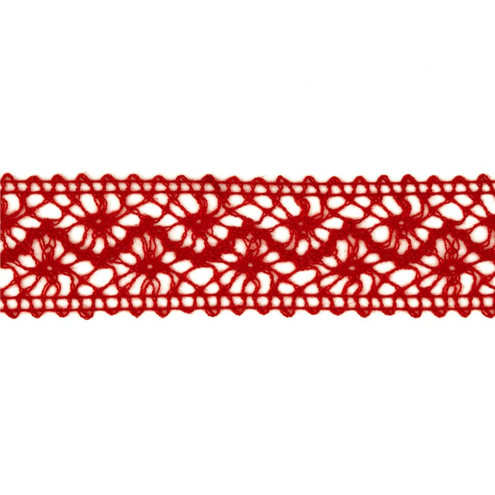 "1 1/2"" Crochet Ribbon Red"