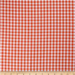 Woven 1/4 Gingham Orange Fabric