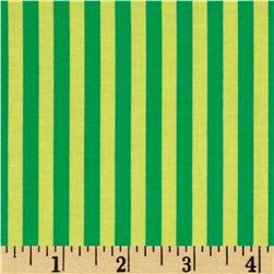 Michael Miller Stripes Clown Stripe Sprout Green Fabric