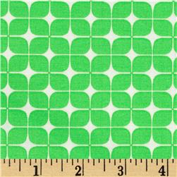 Neon & On Lozenges Neon Green Fabric