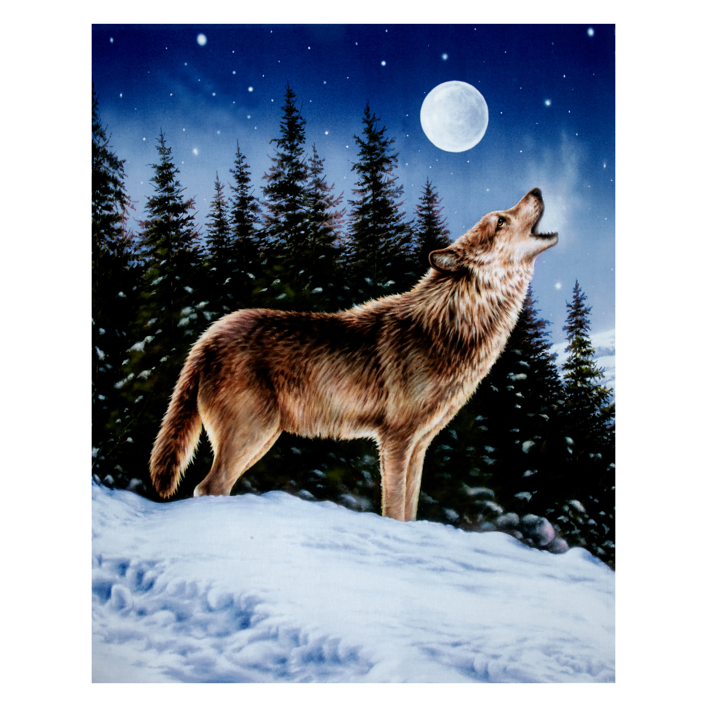 Penny Rose Majestic Outdoors Digital Wolf 38'' Panel Multi Fabric by Christensen in USA