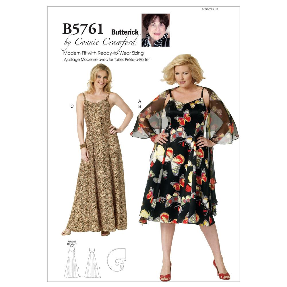 Butterick Misses'/Women's Wrap and Dress Pattern B5761 Size