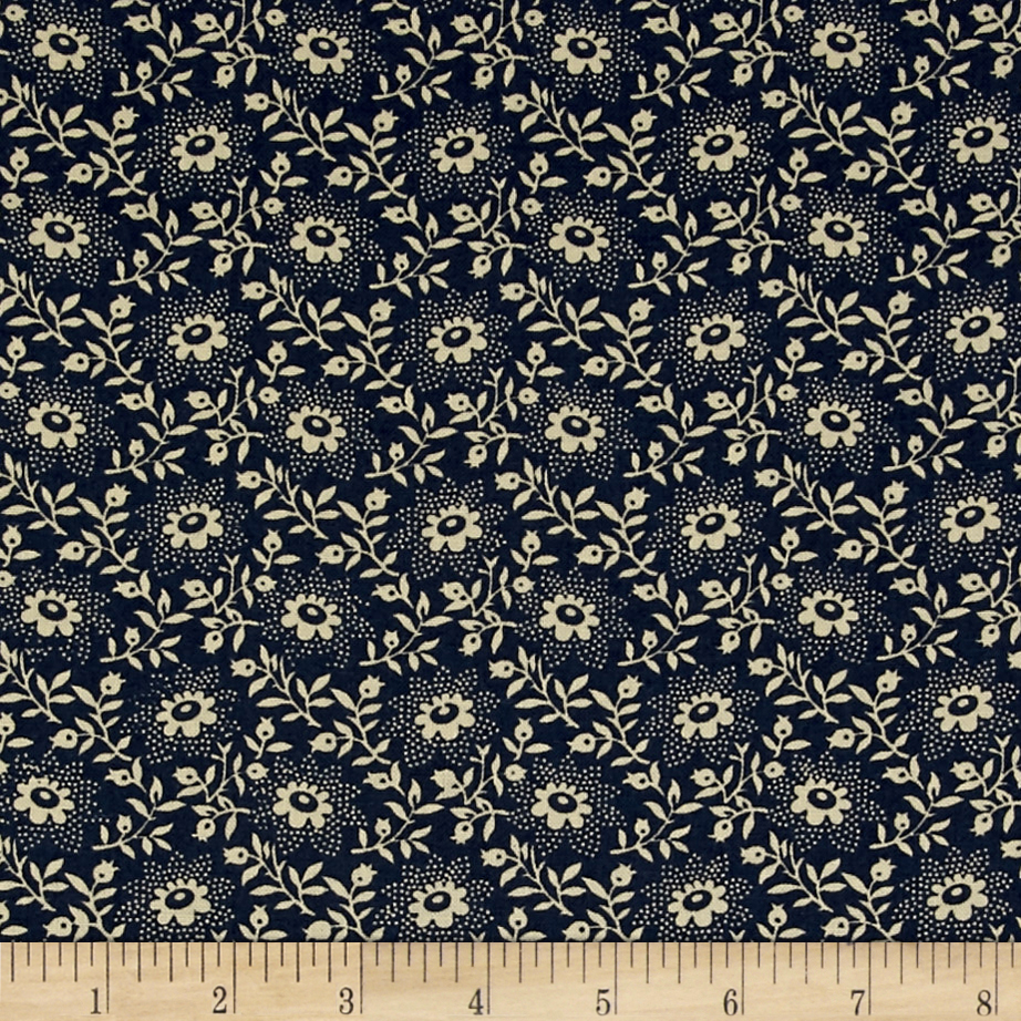 Image of 108'' King Quilt Backs Floral Blue Fabric