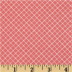 Color Love Diamonds Coral Fabric