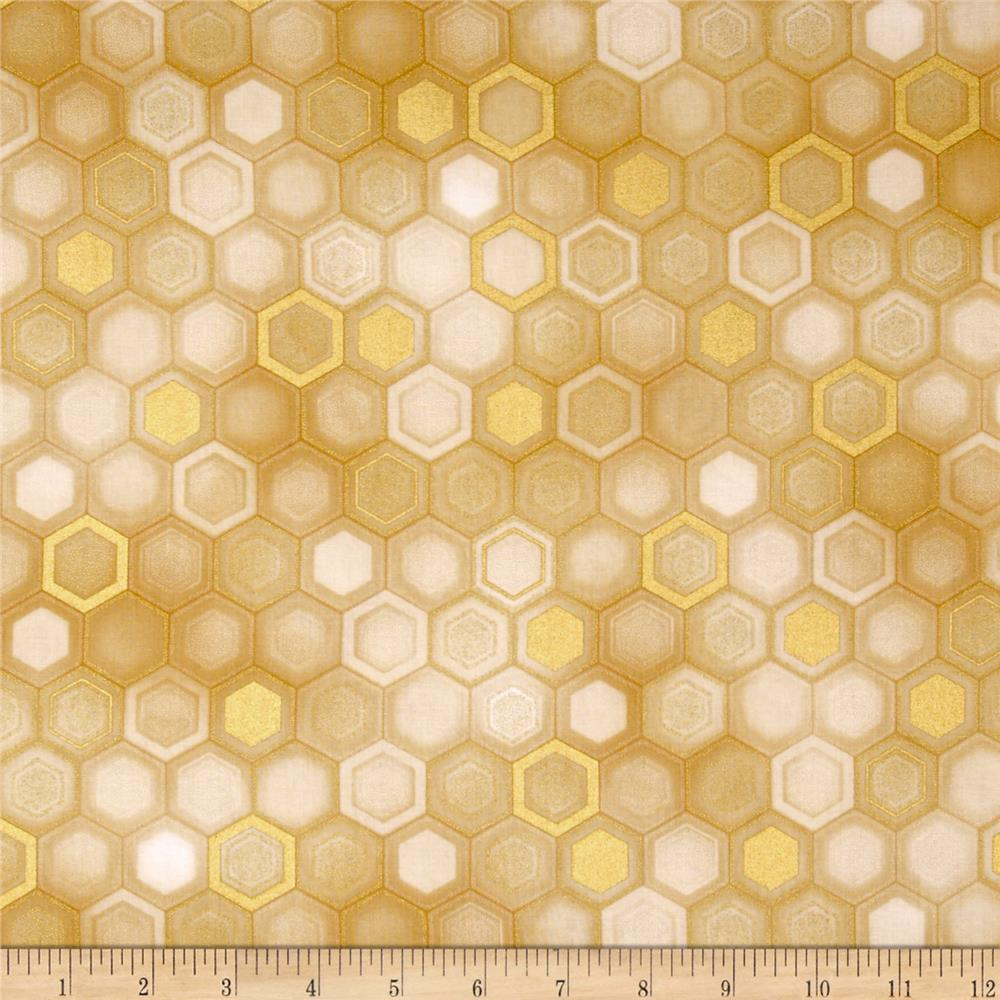 Winter's Grandeur Metallic Honeycomb Ivory