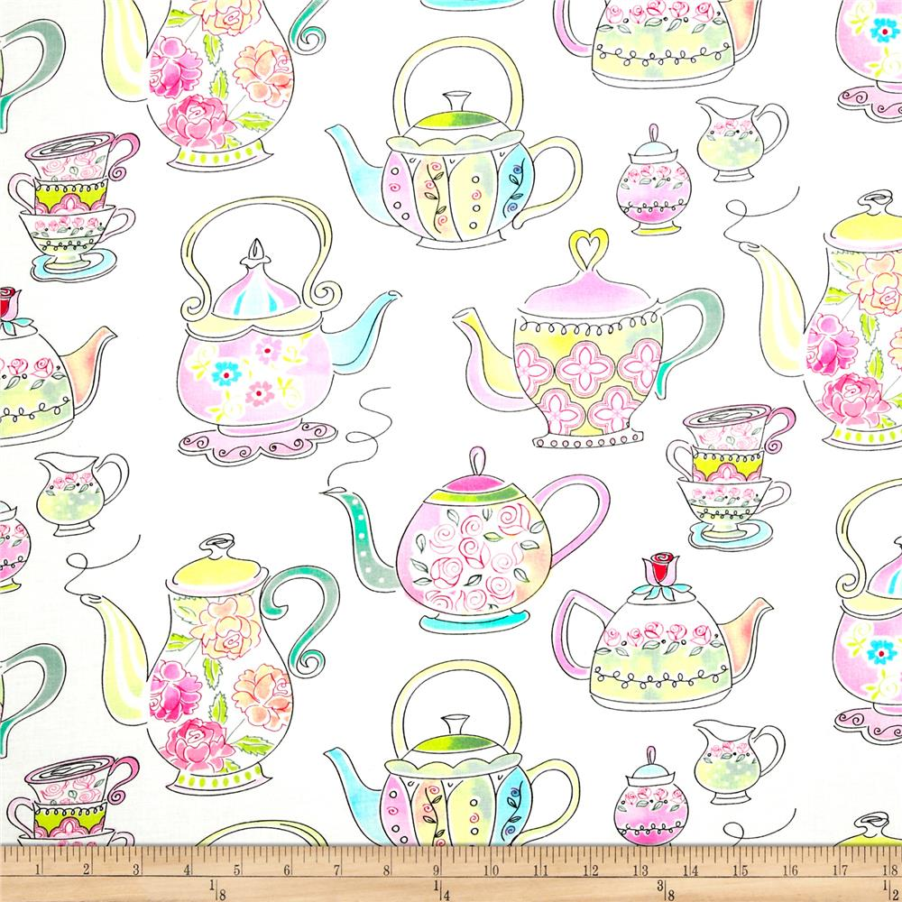 Timeless Treasures Tea Party Tea Pots White