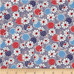 Moda Fresh Air Polka Dot Daisy Navy