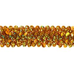 "1 1/4"" Stretch Starlight Sequin Trim Gold"