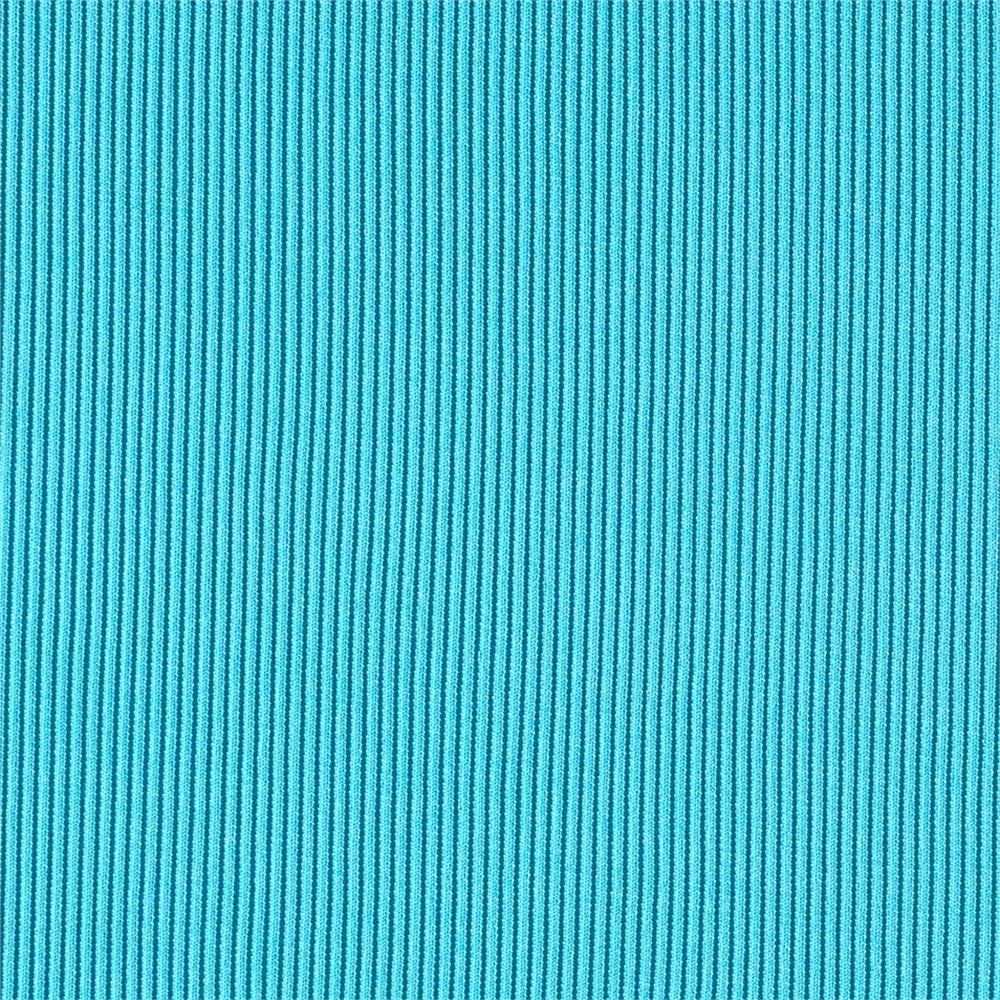 Rib 2x1 Knit Solid Turquoise