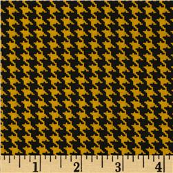 Spotlight Houndstooth Golden Yellow/Black Fabric