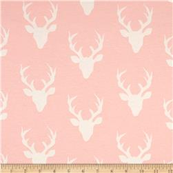 Art Gallery Jersey Knit Buck Forest Pink