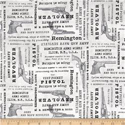 Classic Remington Words Grey