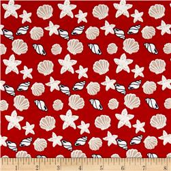 Nautical Collection Jersey Knit Shells Red