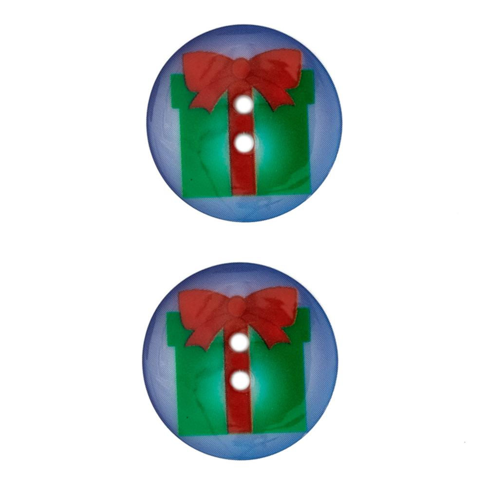 Novelty Winter Wonder Button 1 1/8'' Gift
