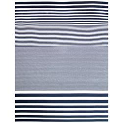 Soft Jersey Knit Stripes Navy/White