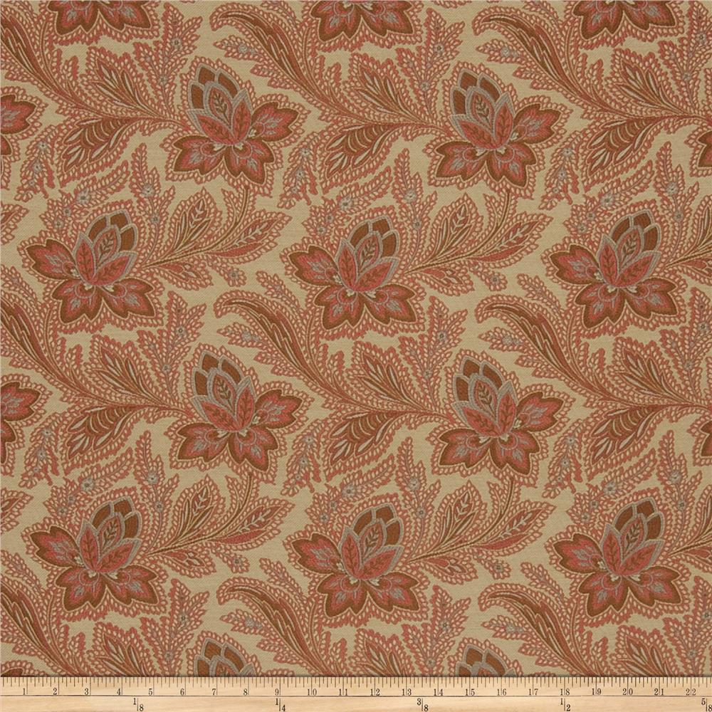 French General Fleur Indienne Jacquard Rouge