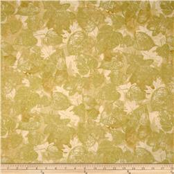 Kanvas Sunflower Fields Metallic Gilded Leaf Cream Fabric