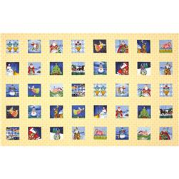 Jim Shore Christmas Multi Christmas 36 In. Panel Yellow