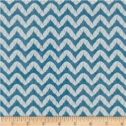 Lace Chevrons Teal Blue