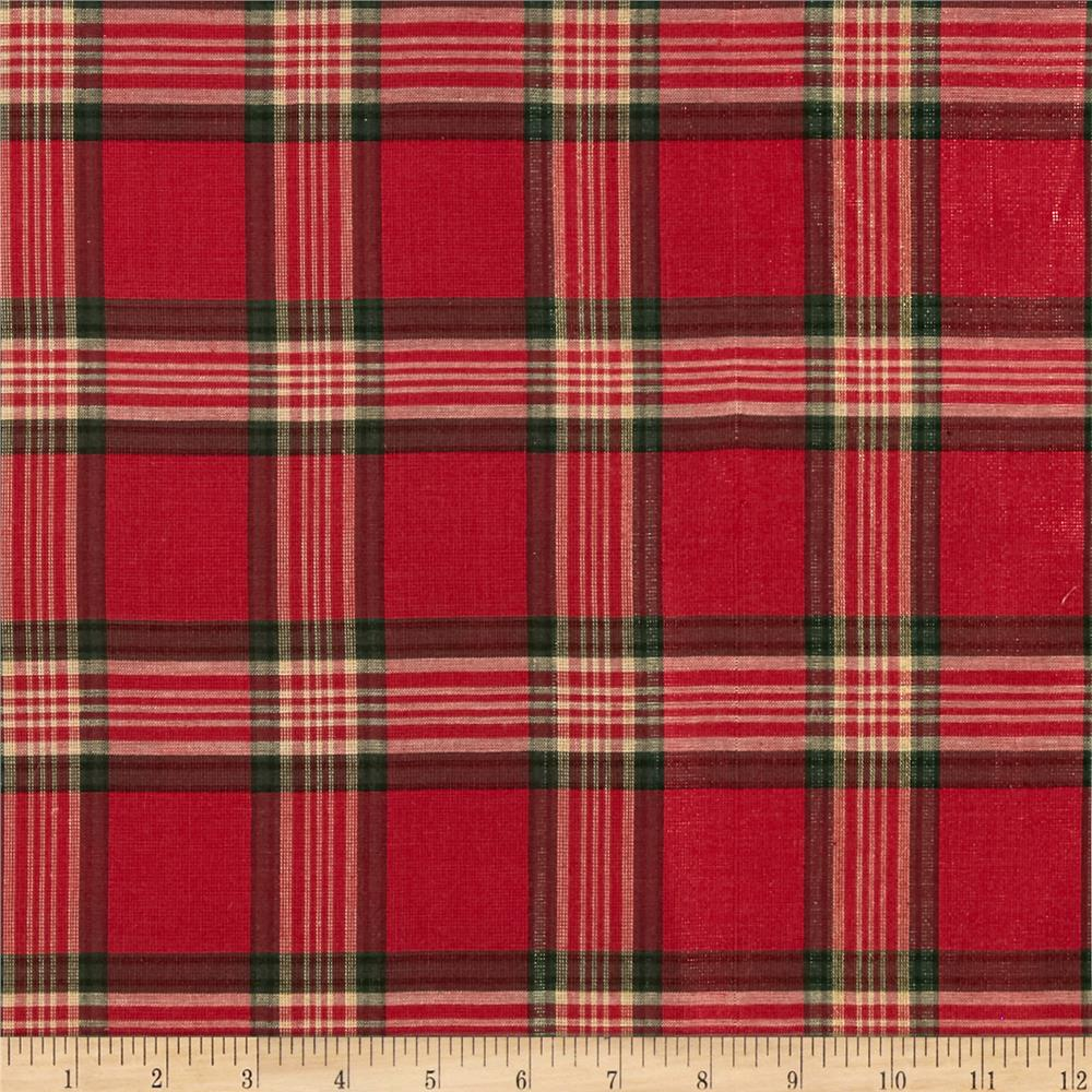 holiday blitz large plaid red discount designer fabric. Black Bedroom Furniture Sets. Home Design Ideas