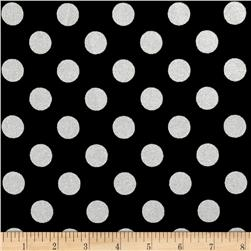 Riley Blake Hollywood Sparkle Medium Dot Black Fabric