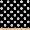Riley Blake Hollywood Sparkle Medium Dot Black