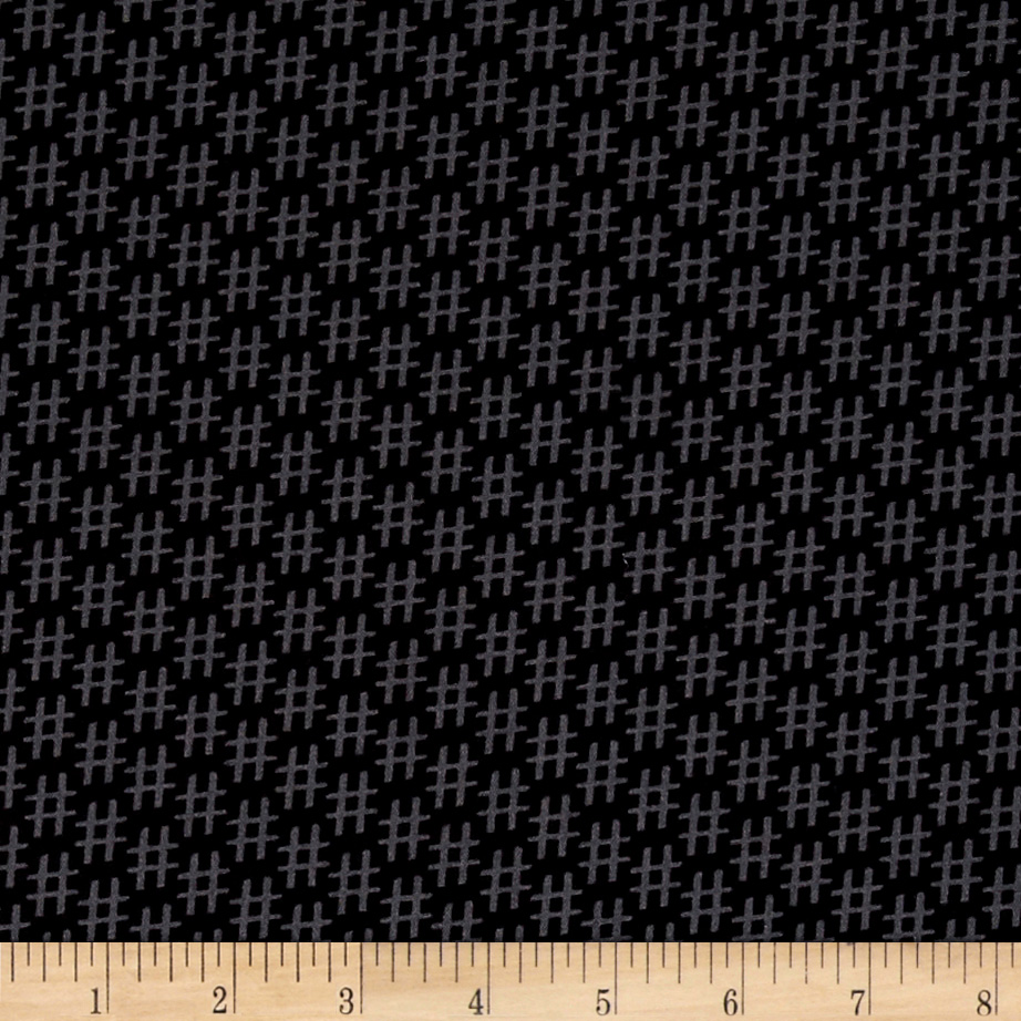 Designed by MY KT for Windham Fabrics this cotton print features the 21st century topic symbol hashtags all across the fabric #Hashtag Everything. This is fabric is perfect for quilting apparel and home decor accents. Colors include black and grey.