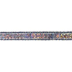 1/2'' Hologram Sparkle Edge Sequin Trim Gunmetal