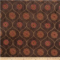 Jaclyn Smith 02096 Embroidered Quatrefoil Spice