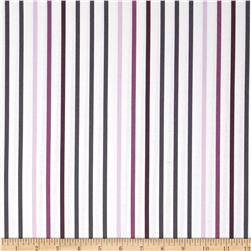Michael Miller Seedling Pavillion Stripe Plum