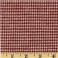 Primo Plaids Flannel Christmas II Houndstooth Red