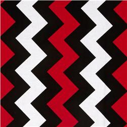 Riley Blake Medium Chevron Red/Black Fabric