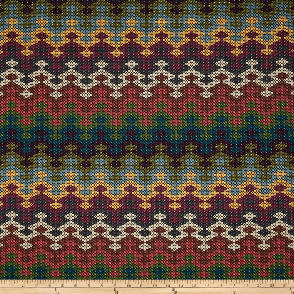 Michael Miller Beadwork Blanket Chevron Earth