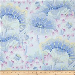 Kaffe Fasset Collective Lake Blossoms Sky Fabric