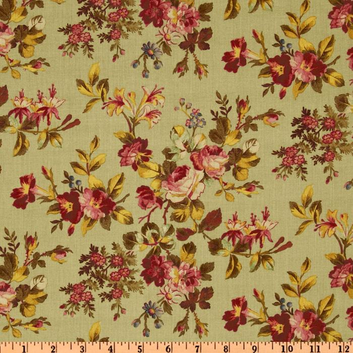 Wellesley Vintage Floral Green