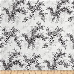 Faded Flowers White/Grey