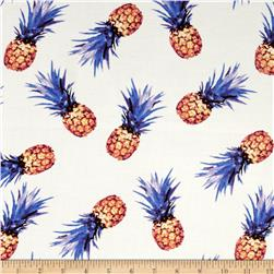 Rayon Challis Pineapple Print Berry/Orchid