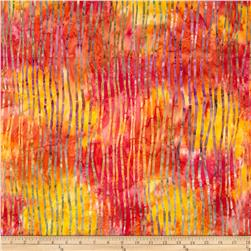 Michael Miller Batiks Passion Reeds Passion Orange