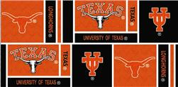 Collegiate Cotton Broadcloth University of Texas Squares