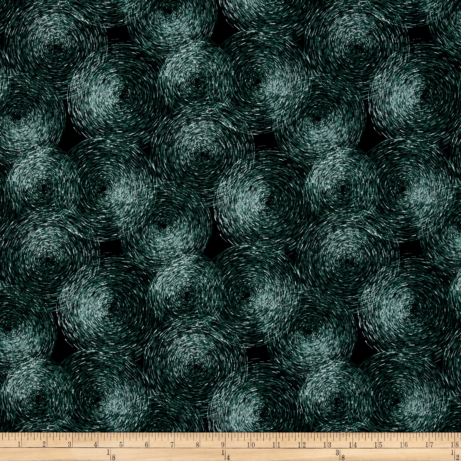 Agave Wind Circles Jade Fabric by Hoffman of California in USA