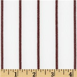 Team Spirit Pin Stripe White/Maroon