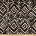 Marquee Abstract Chenille Jacquard Black
