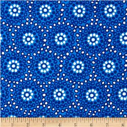 Sundborn Garden Small Circles Blue Fabric